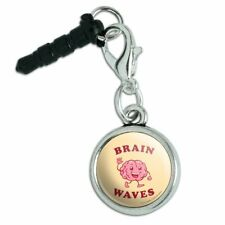 Brain Waves Waving Funny Humor Mobile Cell Phone Headphone Jack Charm