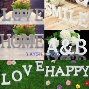 Free Standing Wood Letters Alphabet Wooden Wedding Party White Decoration Gift