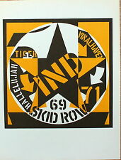 Robert Indiana Original Lithograph Skid Row First Edition Mourlot 1973