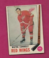 1969-70 OPC # 60 RED WINGS WAYNE CONNELLY GOOD CARD  (INV# 7484 )