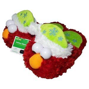RARE Elmo Snowflake Christmas Slippers NWT SAMPLES Never Made Production Sz 9*