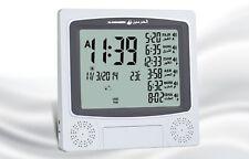 Azan Clock / Prayer Times / Qibla Direction / Hijri Calendar Wall/Table HA-4010