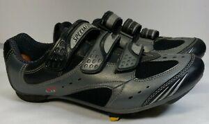 SPECIALIZED Mens BG black silver Road Cycling Shoes - MEN'S Size 11 (EU 45)