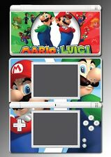 New Super Mario Bros 3D World Luigi Yoshi Video Game Skin Cover Nintendo DS Lite