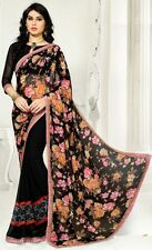 Stylist Multi Color Printed Chiffon Saree with a Blouse D.No SK427