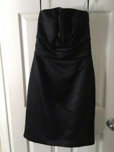 NWT White House Black Market Women Black Cocktail Dress 8 Stapless Dressy Formal