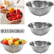 3tlg Küchensieb Seiher Edelstahl Abtropfsieb Salat Gemüse Nudel Sieb 3 Größen