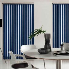 Blackout Dark Blue Made To Measure Vertical Blind - Best Price - Full Blind