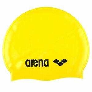 Arena Classic Silicone Swim Cap Bright Yellow-Black Swimming Cap, Silicone Swim