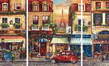 Paris Nostalgie Schipper Triptychon Malen nach Zahlen