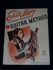 Eddie Lang Modern Advance Guitar Method 1935 Robbins Music