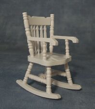 White Rocking Chair, Doll house furniture Miniature 1.12 Scale