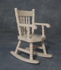 Blanco Mecedora, Muebles De Casa De Muñeca Miniatura 1.12 Escala