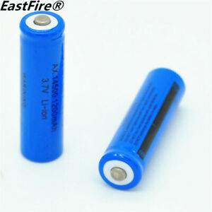 2PCS/LOT EastFire AA 14500 1200mah 3.7V Lithium rechargeable battery 400mah Test