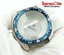 Seiko GMT Kinetic SUN059 Case 5M85-0AE0 Stainless Steel Watch Case with Bezel