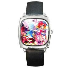 No Game No Life boys anime girls mens womens unisex  leather wrist watch