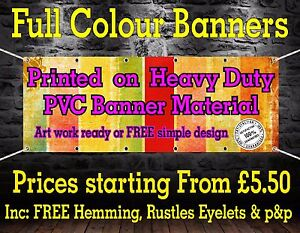 PVC Banners Outdoor Vinyl Banner Advertising Sign Display Printed Heavy Duty 01