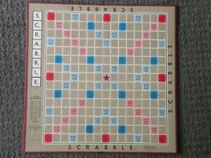 """Vintage Scrabble Game Board 14""""x14"""" Matte Finish Crafts/Replacement"""