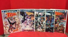 Lot Of 5 Titans #1-5 Rebirth DC Comics Nightwing Flash Kadabra Robin Aquaman
