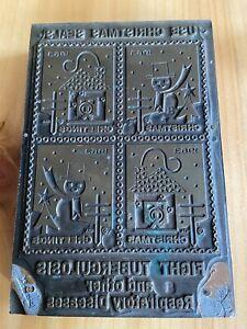 Vtg 1963 Easter Seals Printer Block Stamp