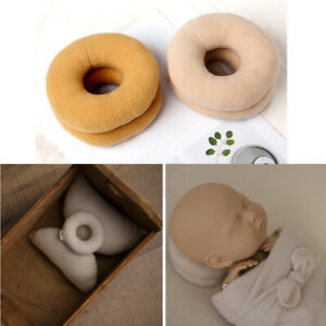 2pc Round Donut Newborn Photography Props Posing Support Pillow Baby Photo Shoot