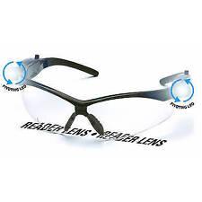 Pyramex PMXtreme LED Safety Reading Glasses Black Frame Clear Anti-Fog Lens