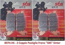 2 Cp Pastiglie Freno Anteriori SBS x Harley Davidson Sportster XL 883 R Roadster