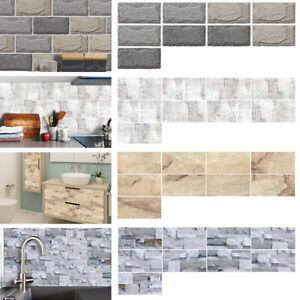 Self-Adhesive Kitchen Wall Tiles Bathroom Mosaic Brick Stickers Peel&Stick Decor