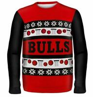 Chicago Bulls Pullover Sweater Ugly,NBA Basketball,Winter Style,Gr.L