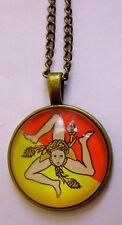 Halskette Sizilien Necklace Sicilia Collana Triscele Trinacria