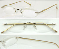 L59 Superb Quality Rimless Reading Glasses & Aluminum Alloy Arms & Spring Hinges