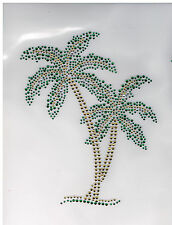 Decoration Rhinestone iron on Bling Transfer DIY Hot fix Applique Palm tree