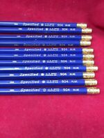 Lot Of 11 Vintage J.R. Moon Pencil Co. U.S.A. 904 Blue SPECIFIED Circle M Pencil