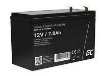 Blei Akku AGM GEL 12V 7Ah Batterie ersetzt für USV-Systeme und Kinderfahrzeuge