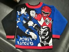 Mighty Morphin Power Rangers Vintage Knit Sweater Youth Size Small - 1994