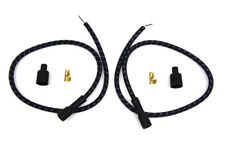 Sumax Black with Blue Tracer 7mm Spark Plug Wire Set For Harley-Davidson