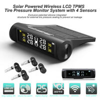 Solar Auto Wireless LCD TPMS Reifendruckkontrollsystem + 4 Internen Sensoren