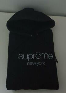 SS17 Supreme Multicolour classic logo hooded sweatshirt XL hoodie Black