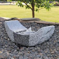 Granit Stein Springbrunnen Gartenbrunnen Wasserspiel LED Beleuchtung Zierbrunnen