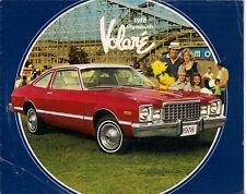 Plymouth Volare 1978 USA Market Sales Brochure Coupe Sedan Wagon Fun Runner