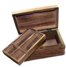 Trickbox, Holzschachtel - Schatztruhe mit Verschluss, extra Einlage, Puzzle Box