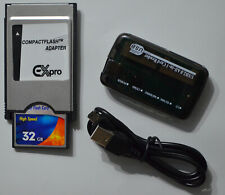 32 GB Compact Flash + Kartenleser + PCMCIA Adapter für Mercedes Comand APS