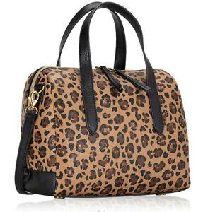 Fossil Sydney Satchel Cheetah Handbag Leopard SHB2351989 X-Body NWT $138 MSRP FS