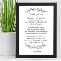 Personalised Fathers Day Memorial In Memory Keepsake Poem Gifts Dad Grandad