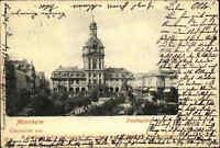 Mannheim Baden Württemberg alte s/w AK 1903 gelaufen Blick auf den Parade Platz