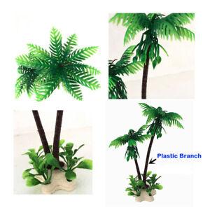 [JB] New 1pc Beach Palm Tree Aquarium Decorative Fish Tank Decoration Toy