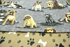 Dog Blanket Jack Russel Corgi Bones Can Personalize Double Sided 28x22