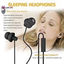 Soft Silicon Super Comfortable Sleeping Headphones Earphones With Mic 3.5mm Plug