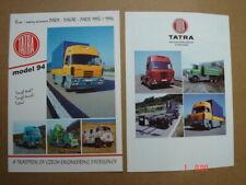 TATRA  Truck range - LKW Modelle   2 brochures / Prospekte  ca.1994.