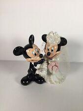 Disney Mickey and Minnie Mouse Bride-Groom Wedding Ceramic Figurine